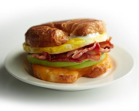 Patriks favoritmacka: Cheddar, äpple, bacon & ägg