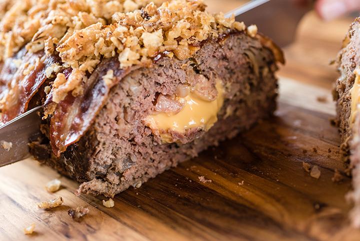 Bacon Cheese Köttfärslimpa i Slow Cooker
