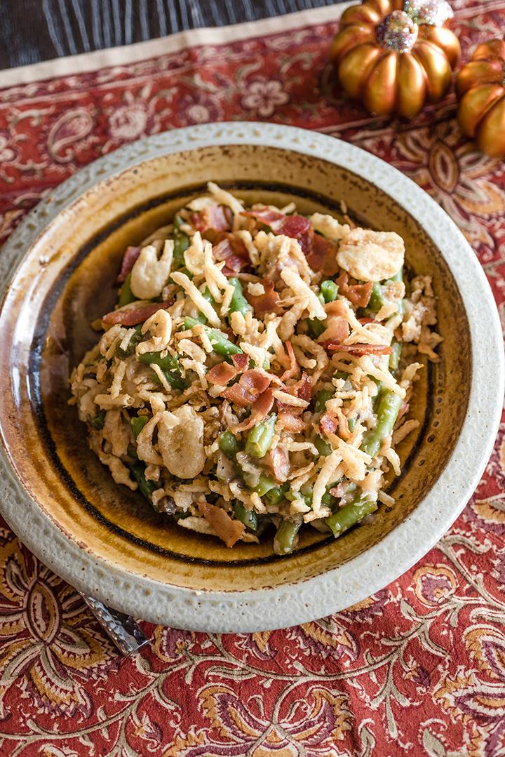 Slow Cooker Casserole med gröna bönor och bacon