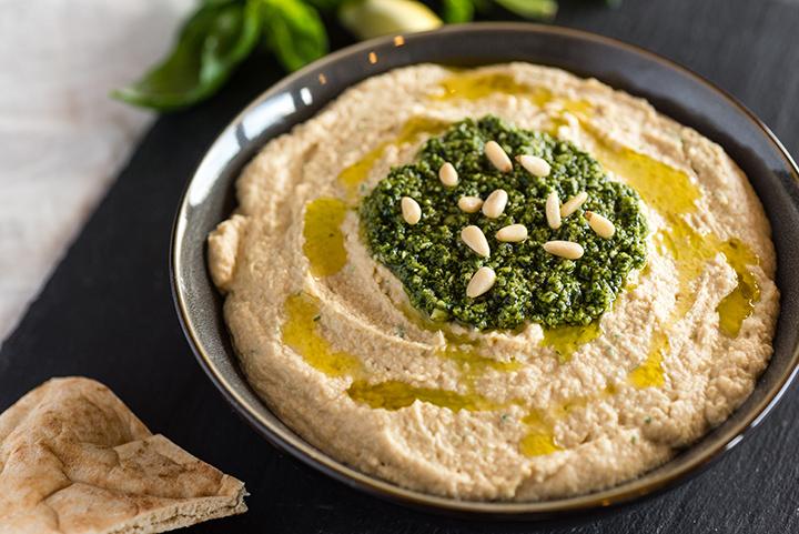 Hemmagjord Hummus med Pesto