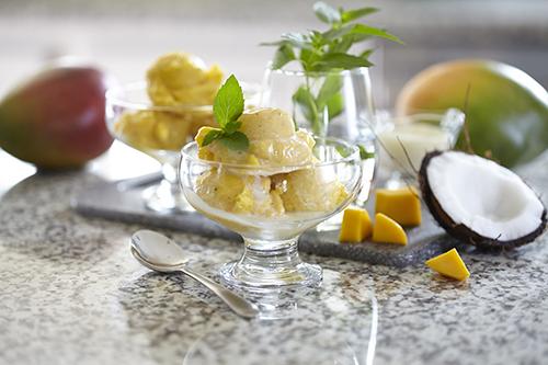 Isglass med Mango
