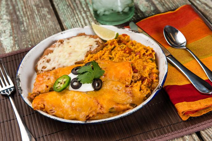 Slow Cooker Enchiladas med Kyckling