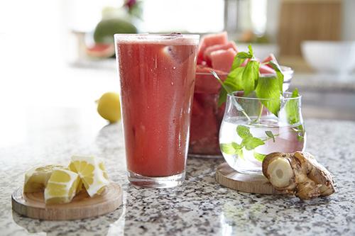 Juice med vattenmelon och ingefära